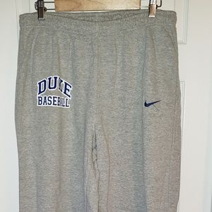 Nike Authentic Team Duke Baseball Sweatpants - XL